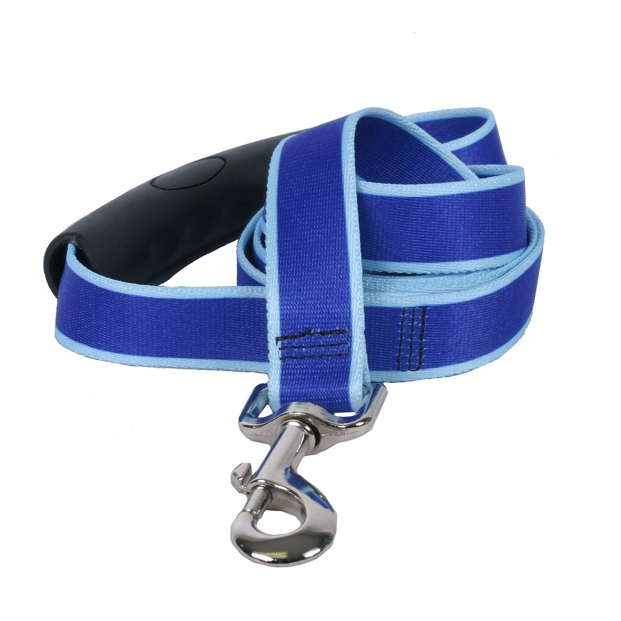 Yellow Dog Design Sterling Stripes Royal Light Blue Dog Leash with Comfort Grip Handle-Small-5/8 5' x 60 RBLB119