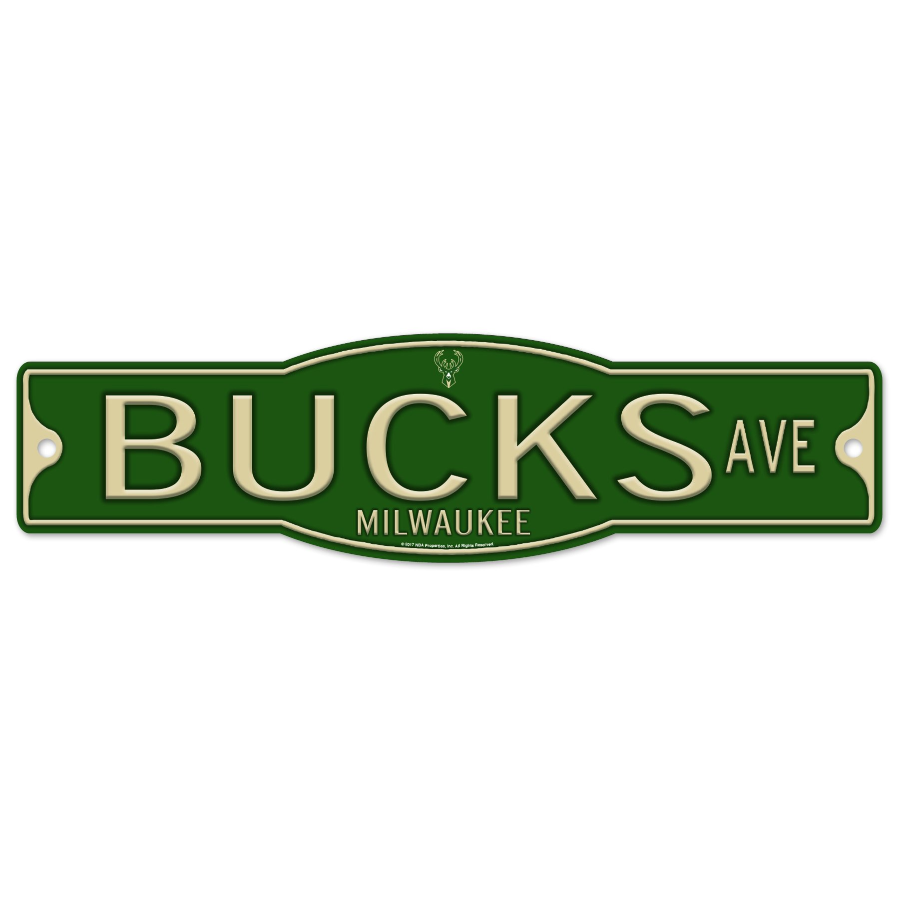 Milwaukee Bucks 4'' x 17'' Plastic Street Sign NBA