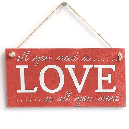RABEAN Love Cartel de Madera Placa de Pared de Madera Palet ...