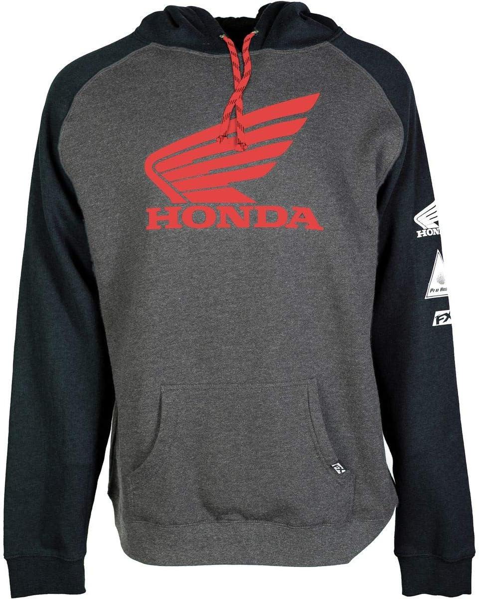 Factory Effex Honda Wing Hoody X-Large Charcoal//Burgundy