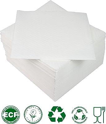 Lot de 20 serviettes en papier blanches /étoiles dor/ées