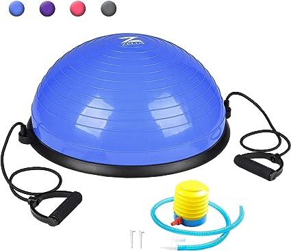 ZELUS Bola de Equilibrio de Yoga Balón de Ejercicio con Bandas de ...