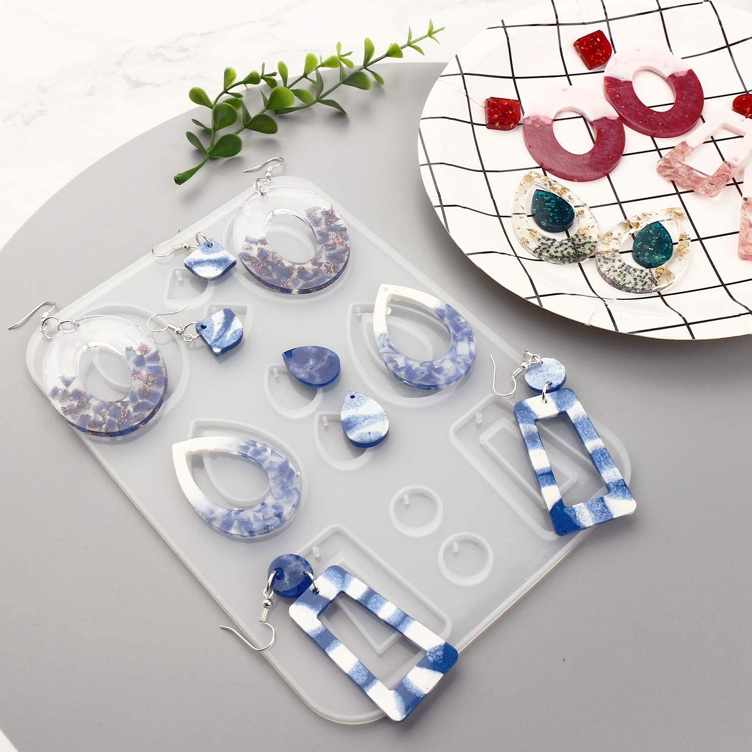 Fashion Jewelry Resin Silicone Molds for Women Girls Bohemian Drop Dangle Resin Earring Mold LETS RESIN 3PCS Earring Epoxy Resin Molds