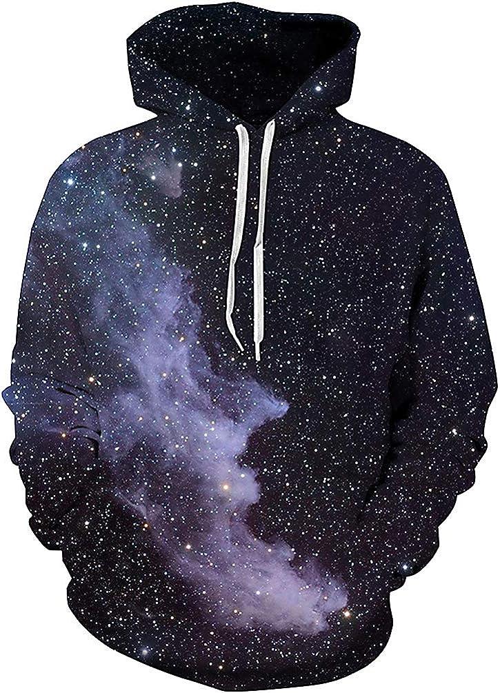 Unisex 3D Novelty Hoodies Graphic Print Galaxy Hoodies Pullover Sweatshirt Pockets