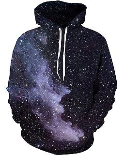 5fa16c9f2a8 Amazon.com  FLYCHEN Men s Digital Print Sweatshirts Hooded Top ...