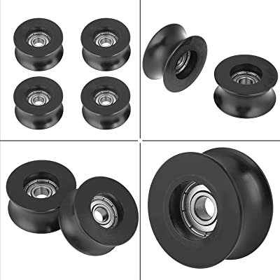 10pcs V624ZZ Deep Metal V Groove Guide Pulley for Rail Track Linear Motion System 4x13x6mm Yosoo Health Gear V Groove Bearing