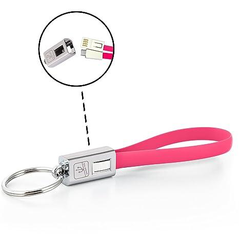 Llavero cargador USB metal (USB-C, Pink)