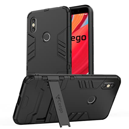 online retailer 7b694 41a54 Ceego Back Cover for Redmi Y2 - Stealth Defence Back Case for Xiaomi Redmi  Y2 [with Shock Protection & Built-in Stand] – Matte Black