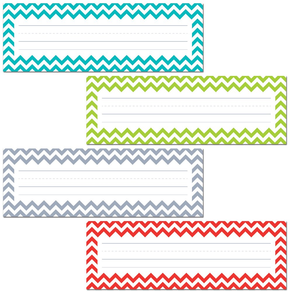 image about Printable Name Tags for Cubbies called Resourceful Schooling Force Chevron Solids Standing Plates (4517)