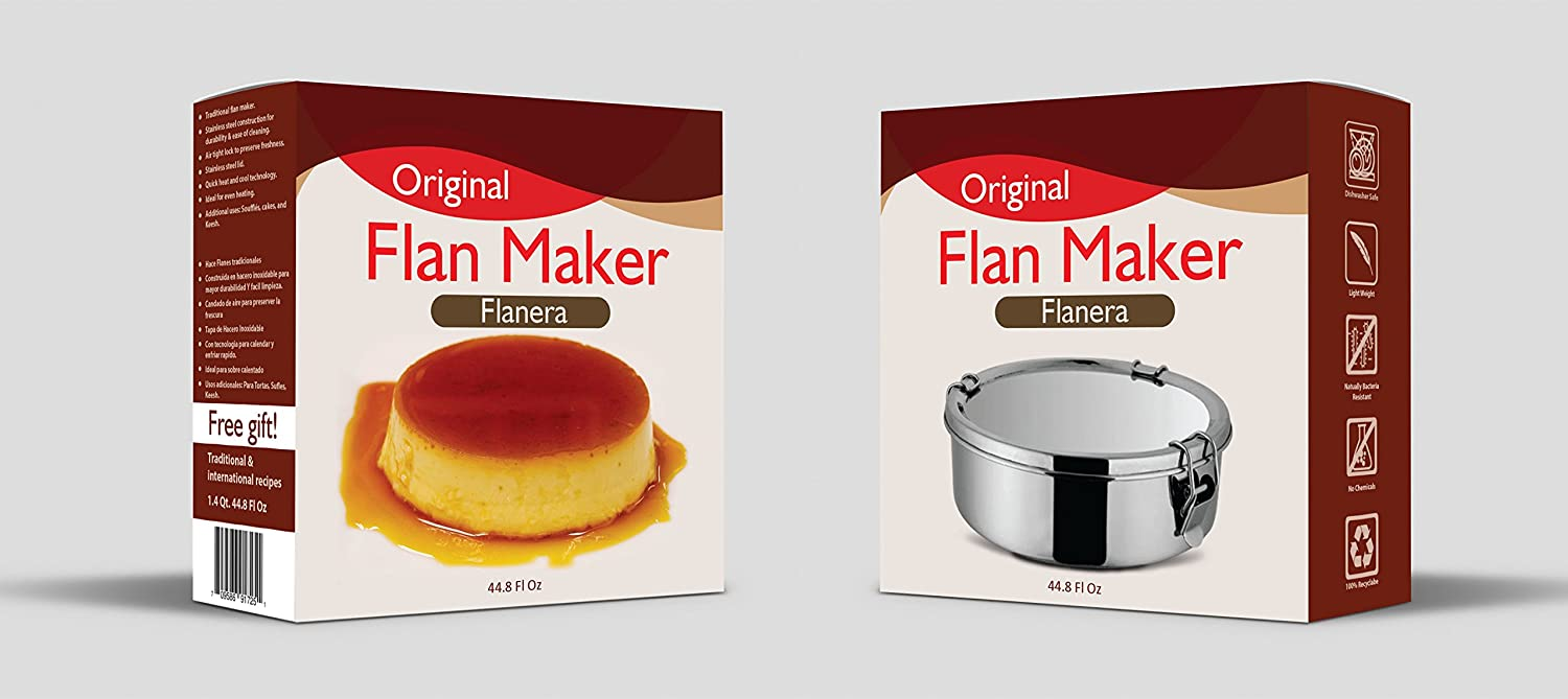 Amazon.com: Perfect Flan Maker molde Flanera molde 1,6 Quart ...