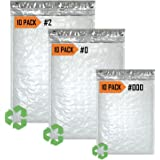 7 Sizes 80 Piece Variety Pack Bubble Mailers