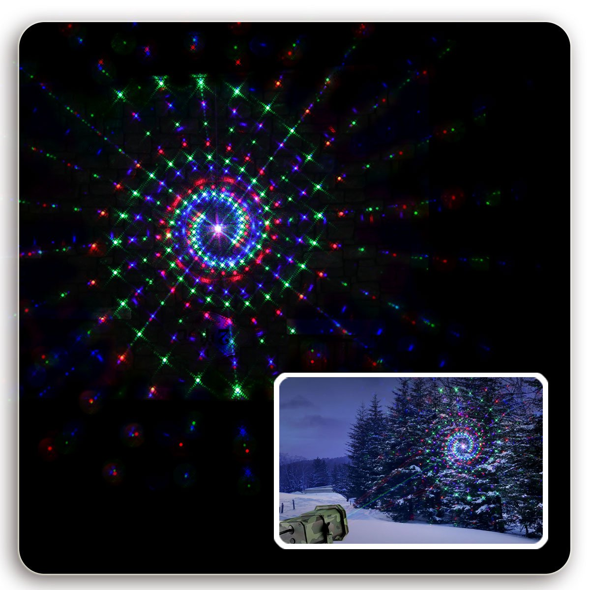EVA Logik Outdoor Waterproof Laser Projector Light, Moving RGB 20 Patterns, with RF Remote Control & Timer, Perfect for Lawn, Party, Garden Decoration by Eva logik (Image #9)