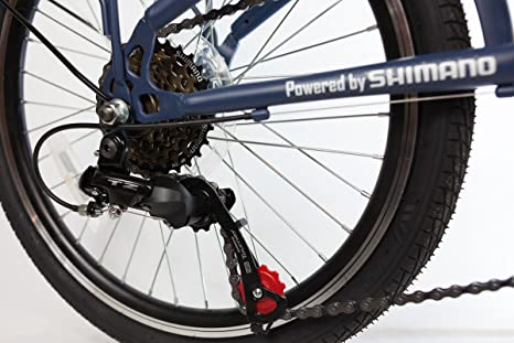 Bicicleta plegable para + + + Nano 360 Pro + + + ciudad Rueda, de 20 pulgadas de 6 marchas Shimano Tourney Revo, Gris - Color Azul Marino Mate: Amazon.es: ...