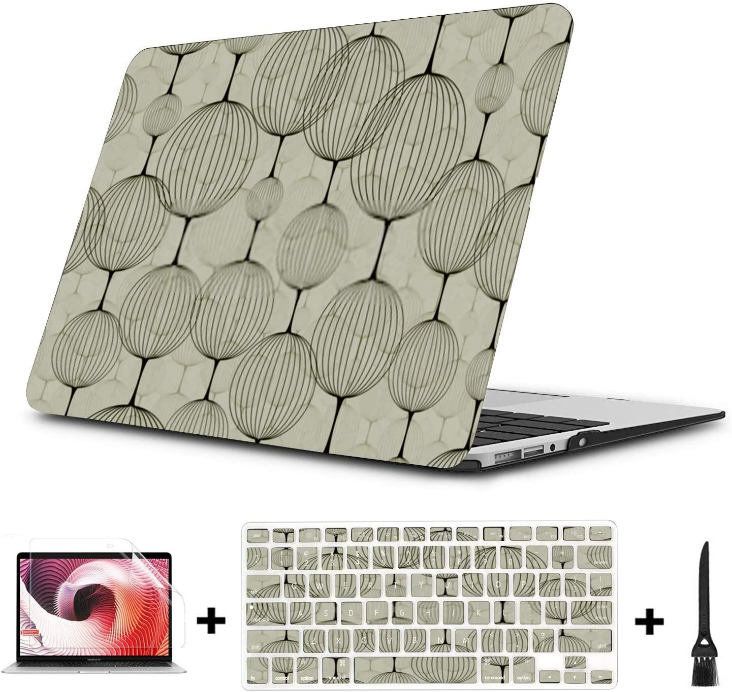 MacBook Pro Case Abstract Seamless Pattern Background Can Be MacBook Retina 12 A1534 Plastic Case Keyboard Cover /& Screen Protector /& Keyboard Clean