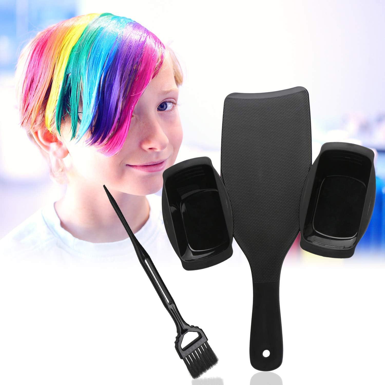 Kit de brocha y tabla Balayage para resaltar el cabello, Set de tinte profesional para el cabello de Segbeauty con dos tazones, paletas de tinte y ...