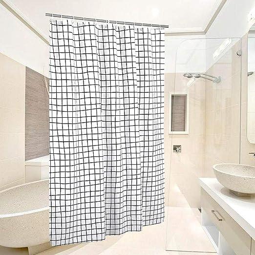 Cortina de ducha de tela de algodón de primera calidad, cortina de ...