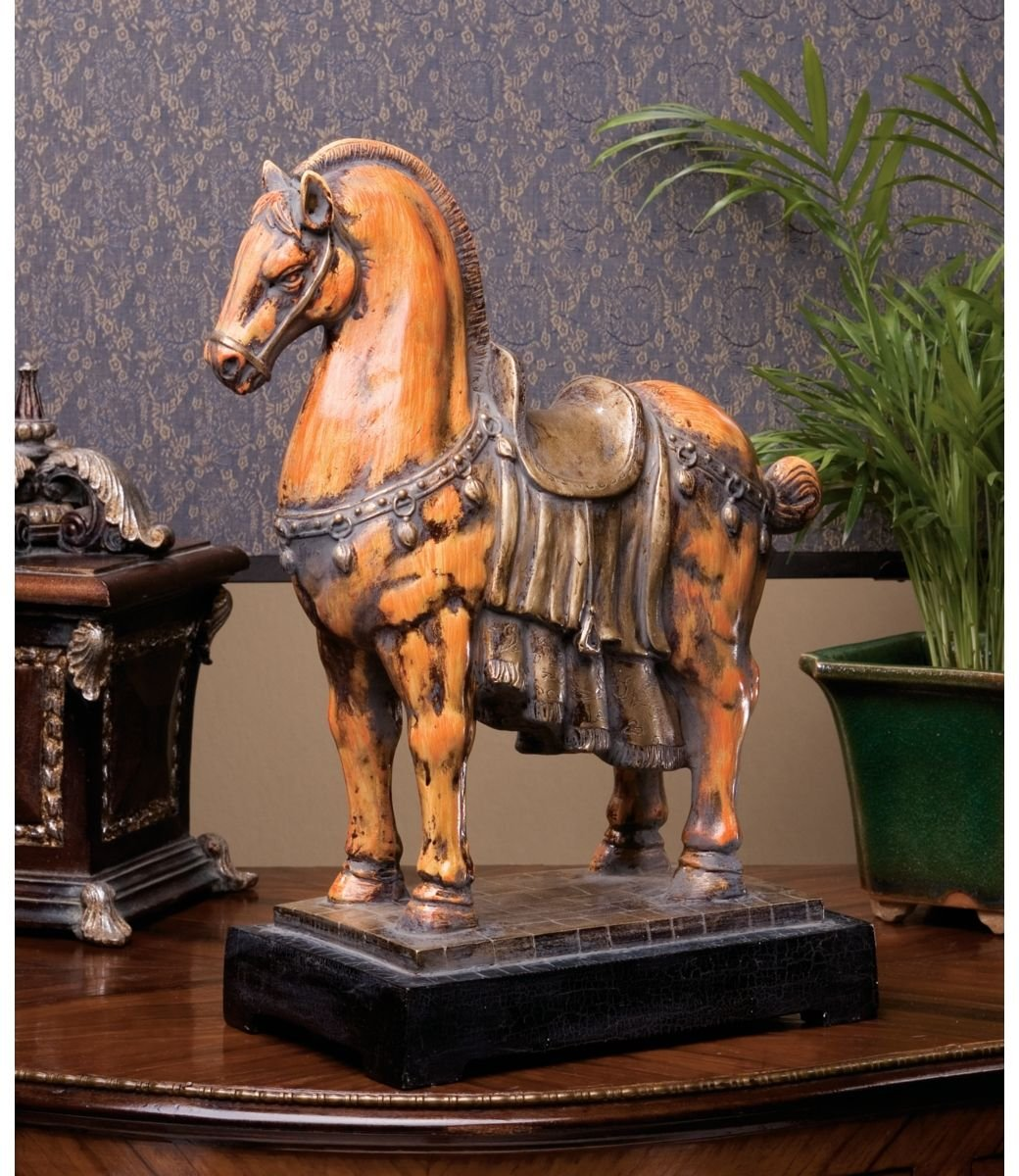 XoticBrands 13 Museum Replica Chinese Tang Horse Sculpture Statue