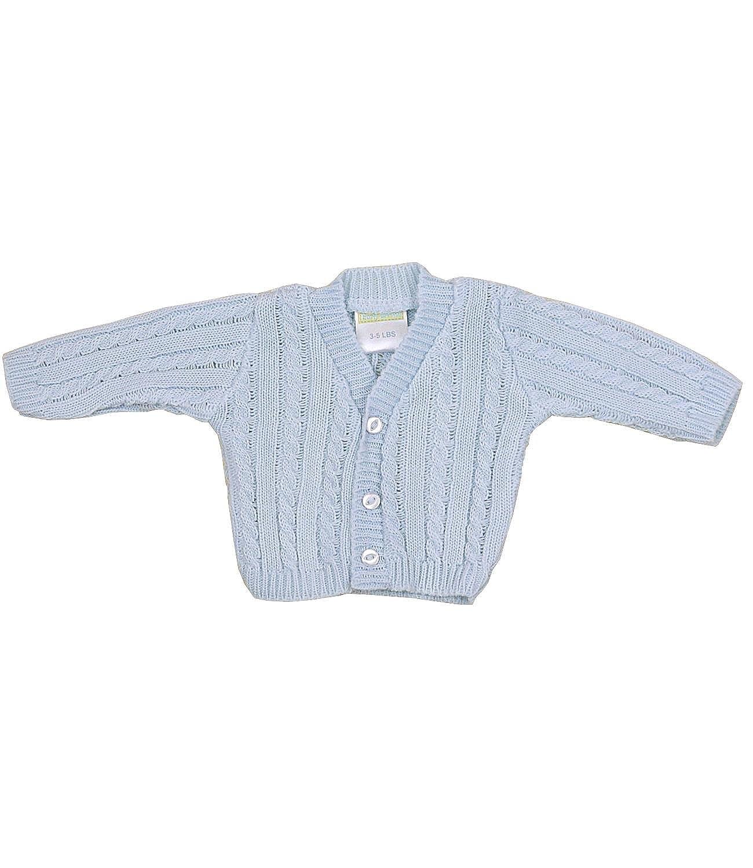 BabyPrem Preemie Baby Cardigan Jacket Cable Knit Acrylic 3-8lb