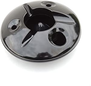5 Inch Commercial Quality Melamine Windproof Ashtray - Black