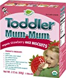 Hot-Kid Toddler Mum-Mum Rice Biscuits, Organic Strawberry, 24-pieces, (Pack of 6)