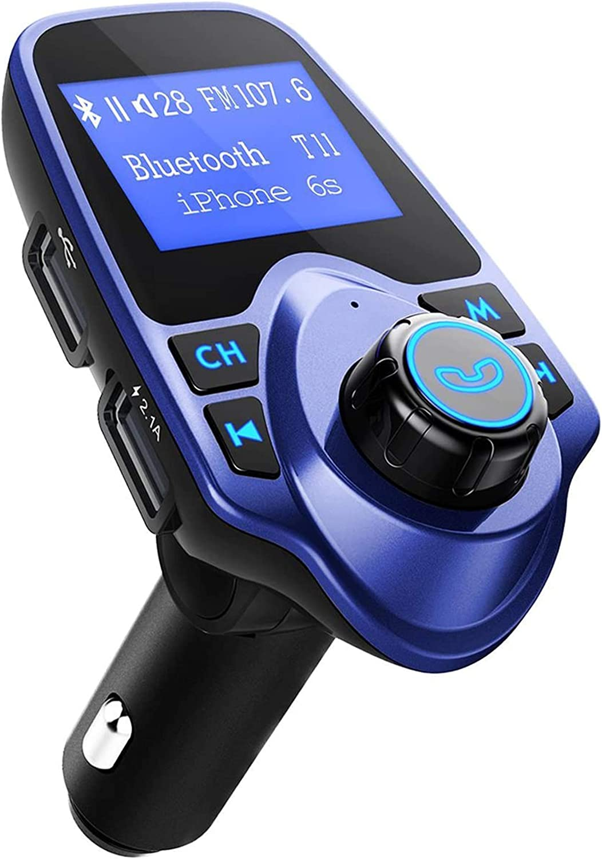 Victsing Bluetooth Fm Transmitter Radio Adapter Für Ios Android Schwarz Blau Navigation