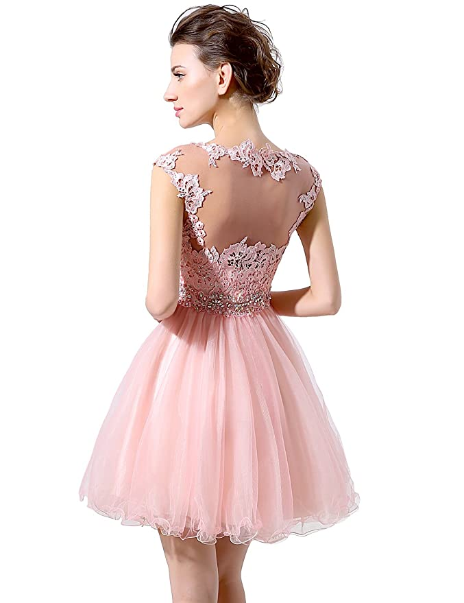 Clearbridal Women's Vintage Lace Prom Party Dresss Sequin