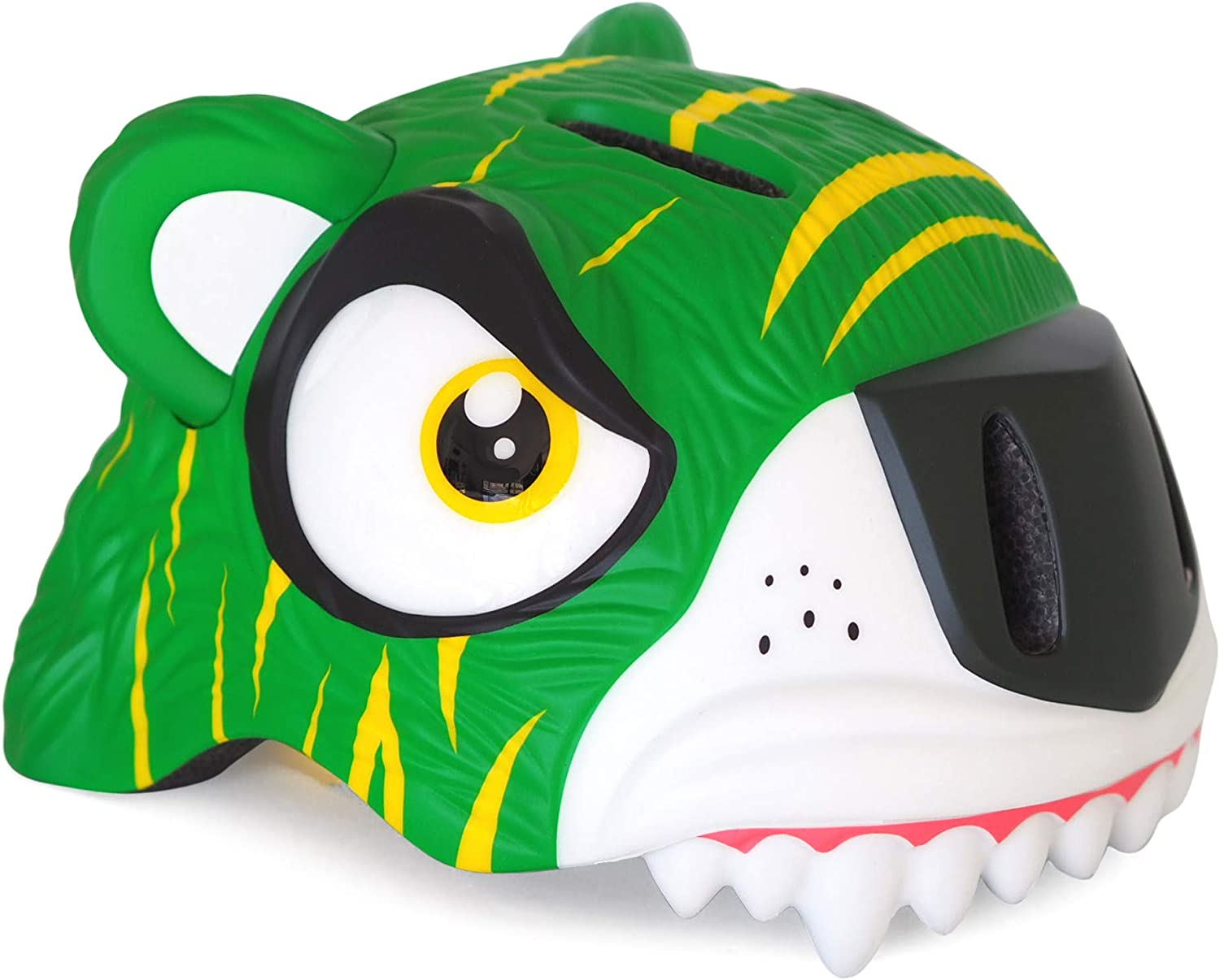 Crazy Safety Kids Bicycle Helmets   Dinosaurs, Sharks, Giraffes, Tigers og Leopards   Age 2-8 Years Old   Size 19.3