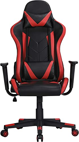 YAHEETECH Gaming Chair Video Game Chairs Ergonomic High Back Computer Racing Chair Executive Swivel Rolling Chair Black/Red