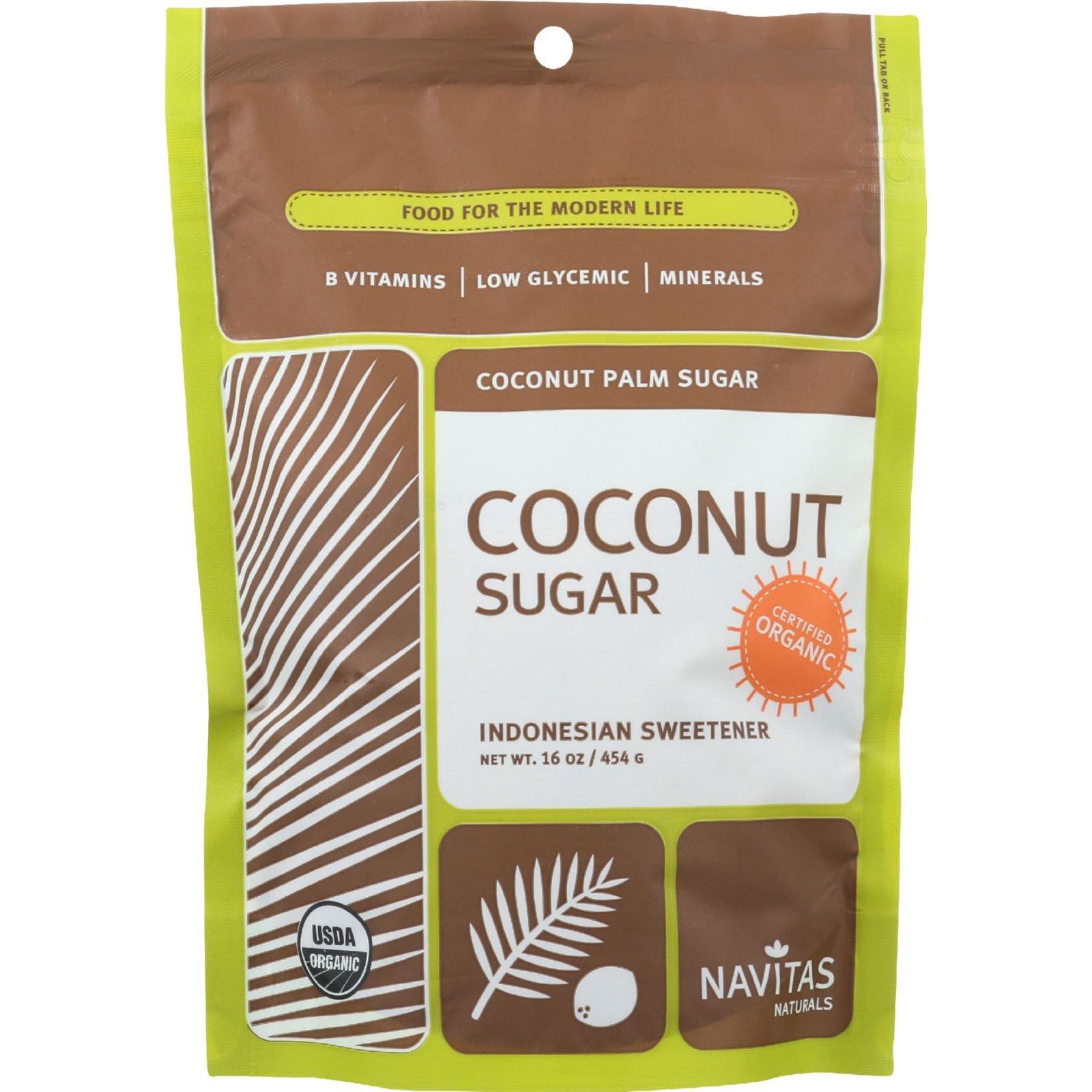 Navitas Naturals Coconut Palm Sugar - Organic - 16 oz - case of 6 - 95%+ Organic - Yeast Free - Wheat Free-Vegan by Navitas Naturals