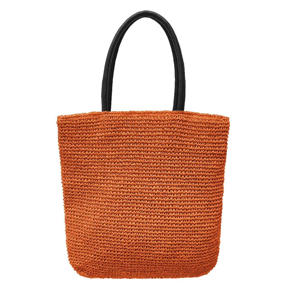 Crochet Tote Bag by Bambou, Fashion Purse Women, Beach Bag, Ladies Shopping Bag, 100% Recycled Material (Tiger)
