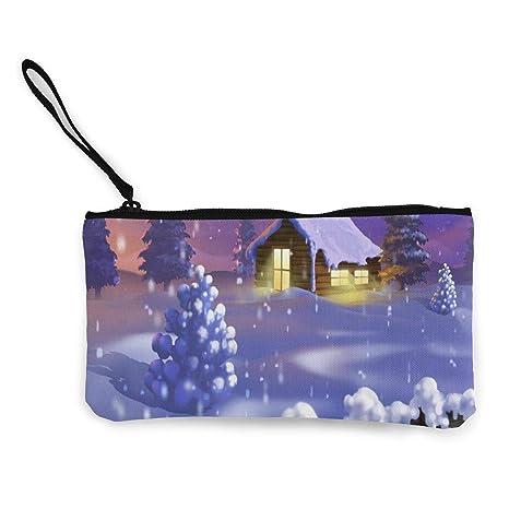 Wrution - Monedero de Lona con diseño de árboles de Navidad ...