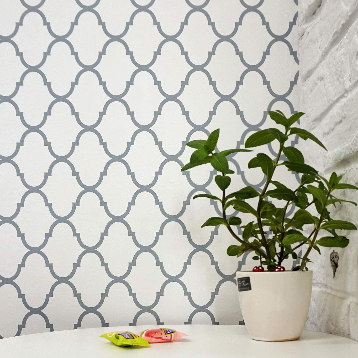 "Thicken Trellis Peel and Stick Wallpaper Self Adhesive Wallpaper Upgrade Trellis Removable Wallpaper Trellis Wallpaper Modern Wall Covering Decor Shelf Drawer Liner Vinyl Film New Version197""x18"""