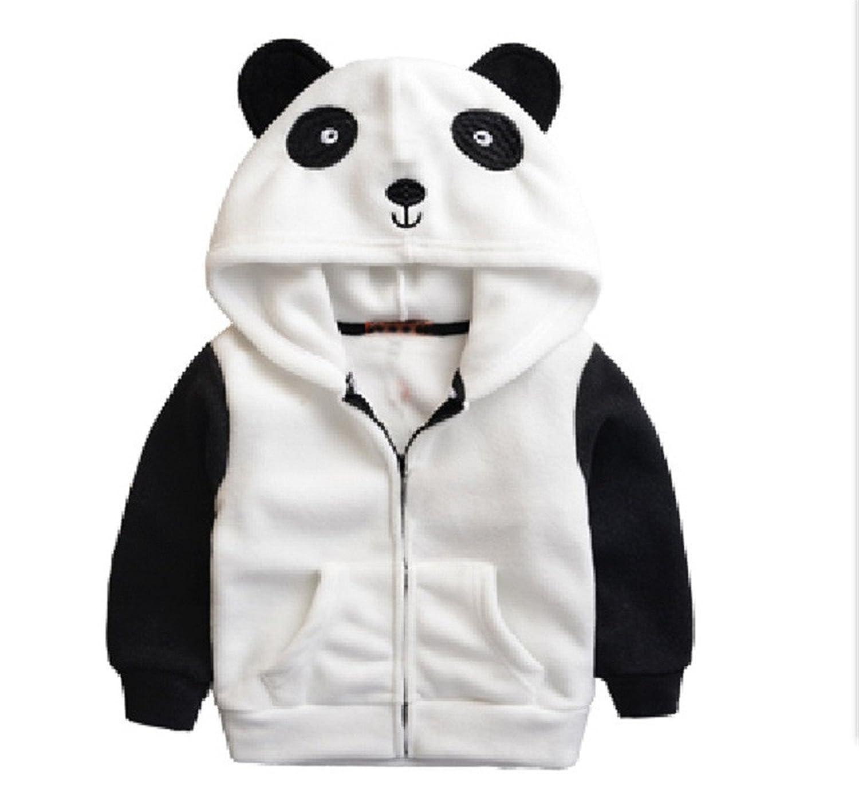 Kids Boys Girls Dinosaurs Hooded Jacket Polar Fleece Autumn Hoodies Cartoon Pandas Ducks Children Outerwear Infantis