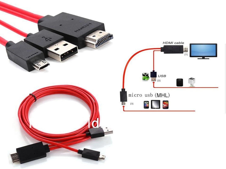 Ilovemyphone Cable MHL HDMI HDTV Micro USB Solo para Samsung Galaxy S3 S4 S5 Note 2 3 4 (Ninguno mas): Amazon.es: Electrónica