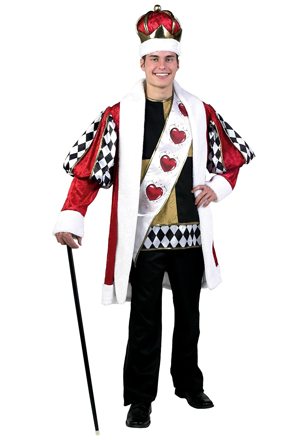 Deluxe King of Hearts Fancy dress costume Small