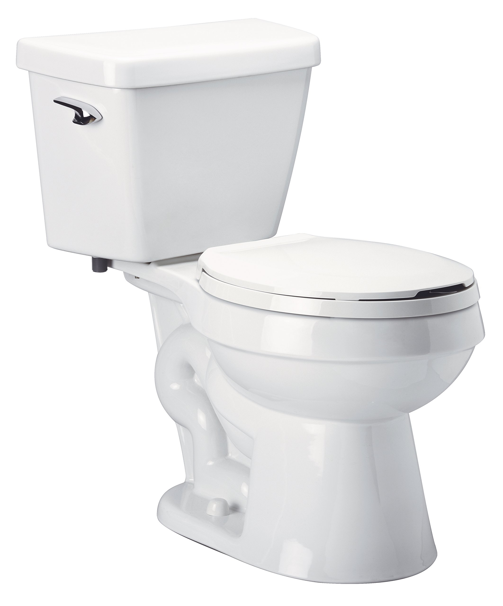 Zurn Z5545 EcoVantage 1.28 gpf, Round Front, High Efficiency Toilet - 3'' Gravity High Performance Siphon Jet