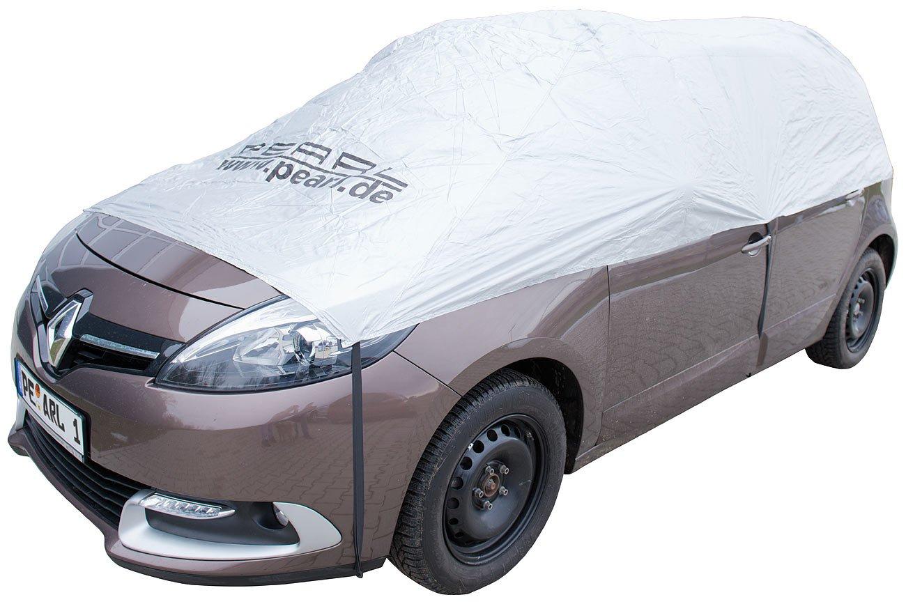 PEARL Sonnenschutz Auto: Auto-Halbgarage fü r Kleinbus & Transporter, 470 x 140 x 65 cm (Schneeschutz Auto) no-Name
