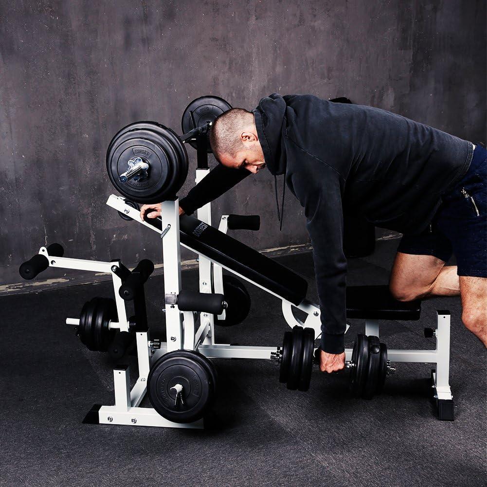Szeneriebild Hantelbank mit Gewichten