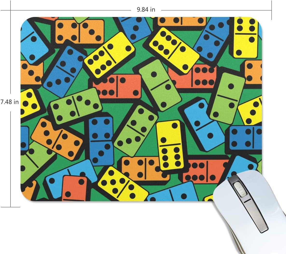 Funny Game Colorful Rectangle Mouse mat Non-Slip Rubber Gaming Mouse pad 9.8x7.5 inch