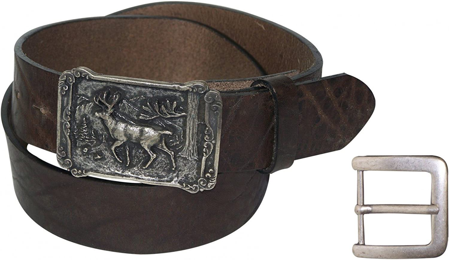interchangeable FRONHOFER Traditional belt plus sizes genuine natural leather