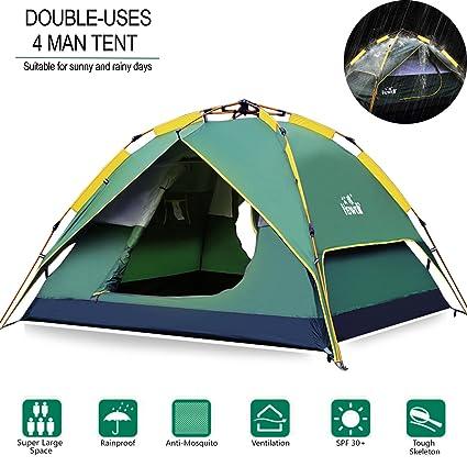 Hewolf C&ing Tent 3-4 Person [Instant Tent] Waterproof [Double Layer]  sc 1 st  Amazon.com & Amazon.com : Hewolf Camping Tent 3-4 Person [Instant Tent ...