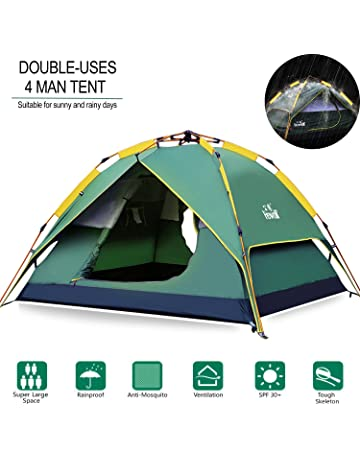 072833c3467 Hewolf Camping Tent 3-4 Person  Instant Tent  Waterproof  Pop up