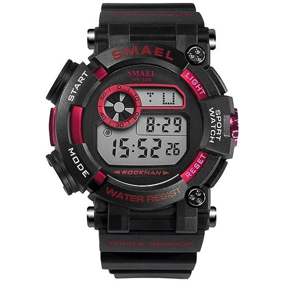 Daesar Reloj Deportivo Reloj Impermeable Reloj de Pantalla Única Reloj Hombre Reloj Multifunción Reloj Hombre Luminoso Relojes Electronicos Reloj Negro ...