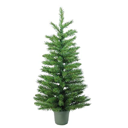new arrival 148f8 e124e Northlight Slim Walkway Artificial Potted Christmas Tree 3' Green