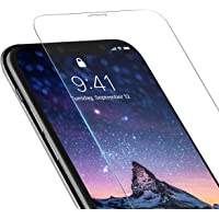iPhone X/XS Screen Tempered GlassProtector Case Friendly [2 Pack] iPhone X/XS Clear Tempered Glass Screen Protector 2-Pack 9H HD iPhone X/XS Tempered Glass Screen Protector for Apple iPhone X/XS