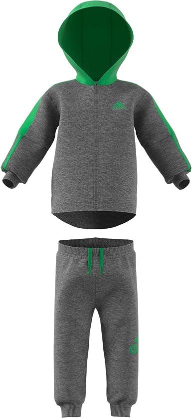 adidas Logo Full Zip Hooded Fleece Traje de baño, Bebé-Niños ...