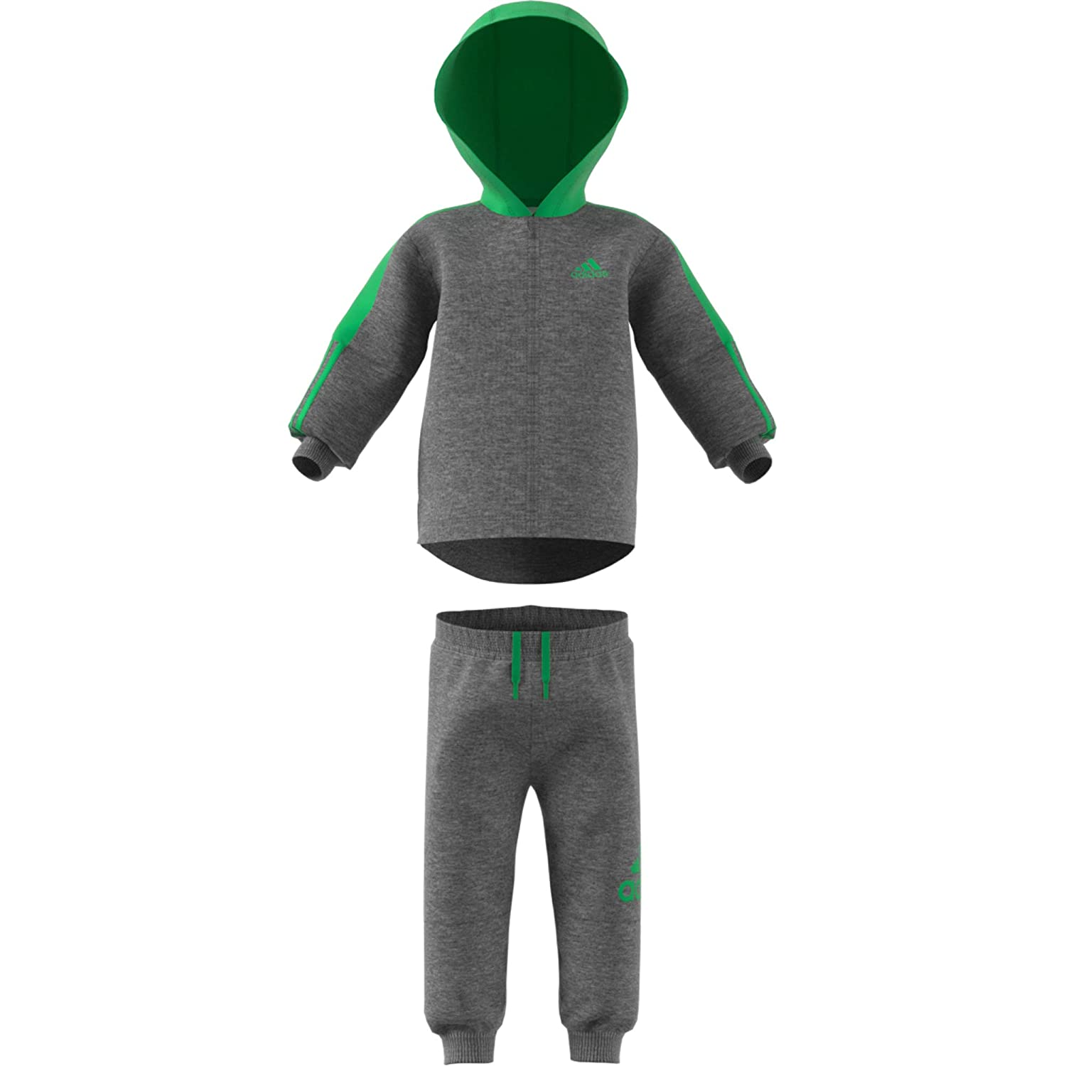 ADIDAS BOYS TODDLER PLAY OUTDOOR WARM FLEECE HOODED TRACKSUIT COTTON 70/% NEW