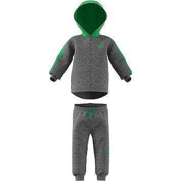 adidas Unisex Baby Logo Full Zip con Capucha Fleece Chándal  Amazon ... 4f380f889b08