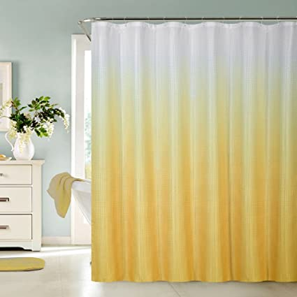 7f4223416a0 Amazon.com  BH Home   Linen 13 Piece Luxurious Waffle Weave Fabric Ombre  Shower Curtain 70