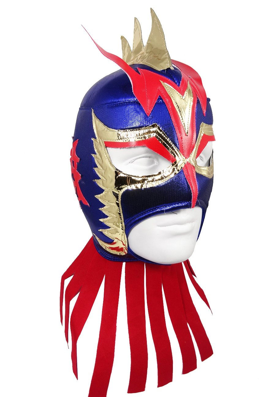 ULTIMO DRAGON Adult Lucha Libre Wrestling Mask (pro-fit) Costume Wear - Blue